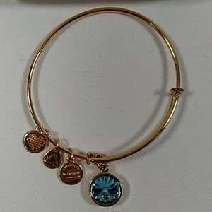 Alex & Ani gold March birthstone bracelet